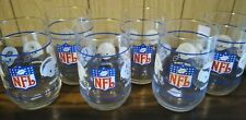 Complete Set of All 6 NFL Division Glasses With All 28 Teams From 1988 or 1989