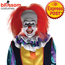W804 Pennywise Costume Red Wig IT 2 Movie Stephen King Horror Clown Halloween