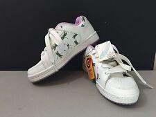 Etnies Women's/Girl's Gal 86 Skate Shoe Size 5.5 White/purple Dragonflies!!