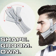 Beard Shaping and Styling Template Mustache Comb Tool for Perfect Lines 1Pc