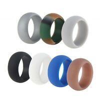Rothco Camo Silicone Band Sizes 8-13 Men/'s Camouflage Rubber Wedding Ring
