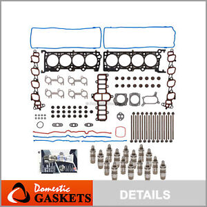 Head Gasket Set Head Bolts Lifters Fit 01-02 Lincoln Mercury Ford V8 4.6 SOHC