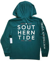 SOUTHERN TIDE Mens Hoodie Pocket Tee Skipjack Logo T-Shirt Teal NWT MEDIUM