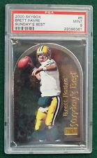 Brett Favre football card graded PSA 9 Mint - 2000 Sunday's Best Die Cut Packers