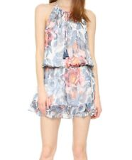 Elizabeth And James Kenji Floral Dress 100% Silk Original Price $365 Size Large