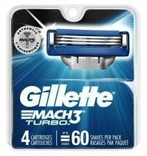 Gillette Mach3 Turbo Men's Razor Blade Refills 4 Cartridges