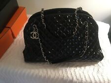 Hard To Find !! Chanel Mademoiselle GM Black Patent Bowling