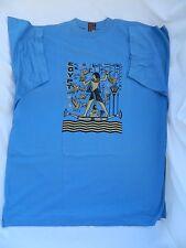 Egyptian Cotton T-Shirt Hunting Scene Blue Gray Large