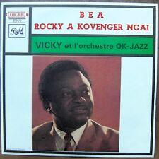 """VICKY et l'orchestre OK-JAZZ Bea / Rocky A Kovenger Ngai 7"""" AFRO CONGO MINT!"""