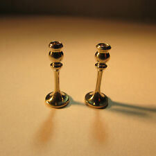 Pair of Candle Sticks ~ Nickle Silver ~ Doll House Miniature ~1/12 scale