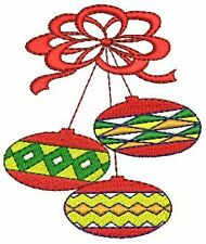 Christmas Ornaments #2 Machine Embroidery Design 4x4 CD