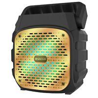 """Fully Amplified Portable 1000 Watt Peak Power 6"""" Bluetooth Speaker SKY6 - Gold"""