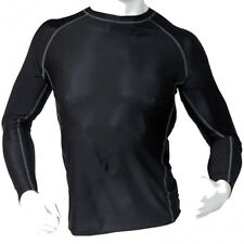 Men's Fitness Workout Base Layer Compression Body Armour Shirt Long Sleeve