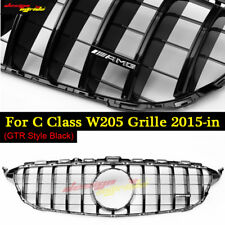 GTR Style Black Grille For Mercede Benz C Class W205 Grill 2015 -18 C180 200 250