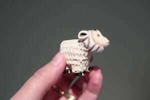 Lovely Vintage De Rosa Rinconada Baby Mountain Goat Figurine - Vgc