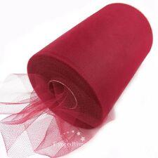 "6"" 100Y Tutu Tulle Roll Gift Bow Craft Bridal Skirt Girl Dress Wedding Decor DIY"