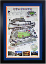🏆 New York Mets Times Citi Field Inaugural Season Reprint Custom Framed! New 🏆