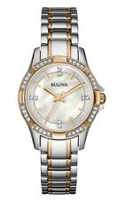 Bulova Women's 98L203 Crystal Markers and Bezel Quartz Two Tone Dress Watch