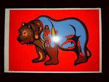 "Woodland Art - ""Shaman and Medicine Bear"" - Original Silkscreen"