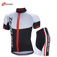 Mens Team Bike Cycling Race Short Sleeve Jersey Shorts Kits Shirt Quick Dry