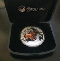 2014 australian lunar year of the horse 1oz silver coin color edition proof