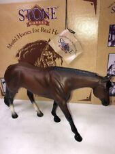 6� Stone Horses Model Horses No. 9621 Western Pleasure Bay Horse W/ Box & Tag