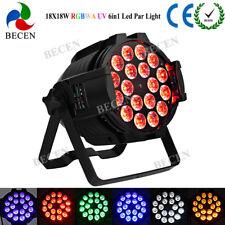 HOT 18X18W 6IN1 LED PAR 64 stage lighting RGBWA UV LED par can light 20pcs IN US