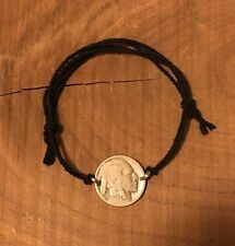 Adjustable Buffalo Nickel Coin Jewelry BRACELET-Vintage-Antique! Hemp