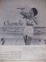 PUBLICITÉ DE PRESSE 1961 CHANTELLE SOUTIEN-GORGE 104 GAINE 688 - ADVERTISING