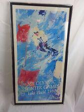 LEROY NEIMAN 1980 Lake Placid Olympics Serigraph DOWNHILL SKIER 22 x 40