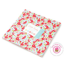 """Moda LITTLE RUBY Bonnie & Camille LAYER CAKE 42 10"""" Squares Quilting Fabric"""