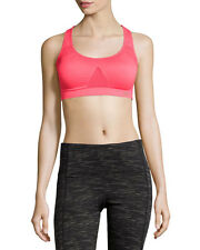 Marika Womens Pink Sapphire Seamless Mesh Impact Sports Bra Sz XS 8221