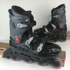 DBX Inline Skates Men's Size 10 Rollerblades Black w/ Mothership 76mm Wheels