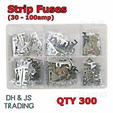 Assorted Box of Strip Fuses 300 - 30 40 50 60 80 100 Glow Plug Relay Classic Car