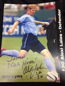 "Alexi Lalas - Defender #30, 8""x10"" Signed Photograph, MLS SOCCER"