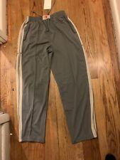 Nike Mens Straight Leg Zip Sweatpants Gray Standard Fit Drawstring M NWT