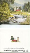 1 VINTAGE JERSEY DAIRY COWS STREAM HILLS VALLEY RED BARN SILO PASTURE ROAD CARD