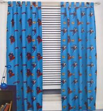 ~ Superman - READY TO HANG TAB TOP CURTAINS WINDOW BED BEDROOM BLINDS
