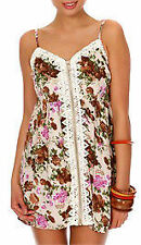 Tunic Floral Petite Sleeveless Dresses for Women