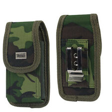 Army Green Vertical Heavy Duty Rugged Canvas Pouch for Apple iPhone X