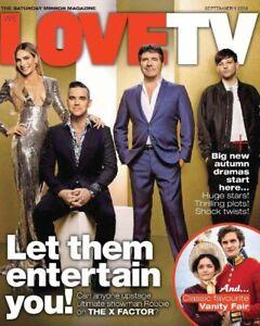 UK Love TV Magazine 1 September 2018: Robbie Williams Louis Tomlinson Alex Jones