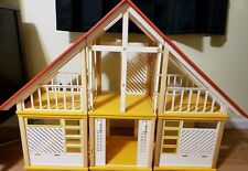Barbie 1979 Yellow & Orange A Frame Vintage Dream House Used Mattel