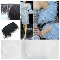 1 Yard DIY Fringe Trim Ostrich Feather Dyed for Costume Hat Sewing Craft Decor