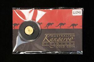 2016 $2 Australia 1/2 gram 9999 Gold Coin - Perth Mint Mini Kangaroo CoA - G1241