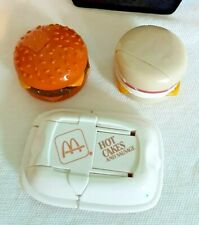 Mc Donald's Happy Meal 3pc Lot Food Changeable Egg McMuffin, Hot Cakes, Burger