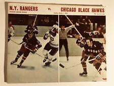 1970 CHICAGO BLACK HAWKS vs NEW YORK RANGERS Program BOB NEVIN Vic HADFIELD