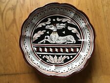 Decorative Plate With Deer And Geometric Design