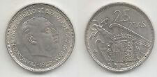 España General Franco 25 Pesetas 1957 * 58  Con Plus Preciosa Sin Circular