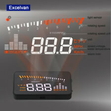 Digital 3'' Car HUD HeadUp Projector Display OBD2 II Speed Warning Speedometer
