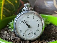 Vintage Ingersoll GB Ltd Hand Wind Pocket Watch - Working